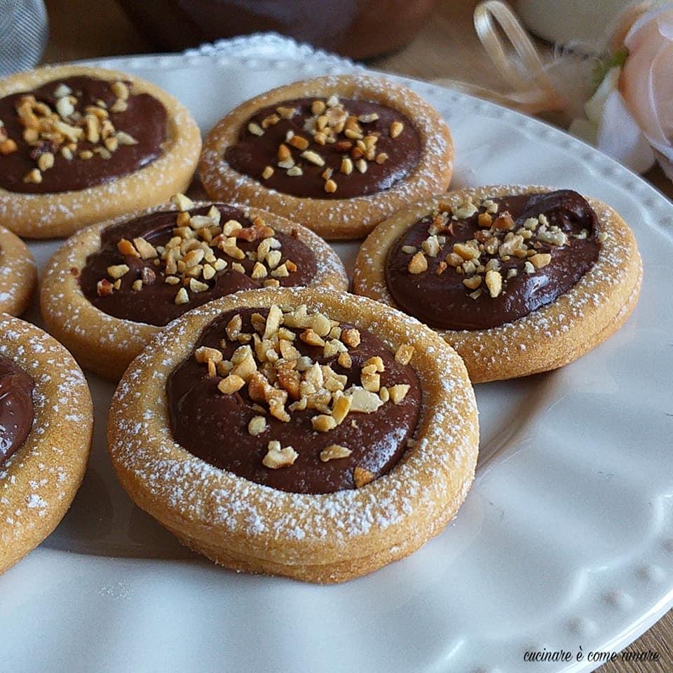 biscotto goloso frolloso alla nutella