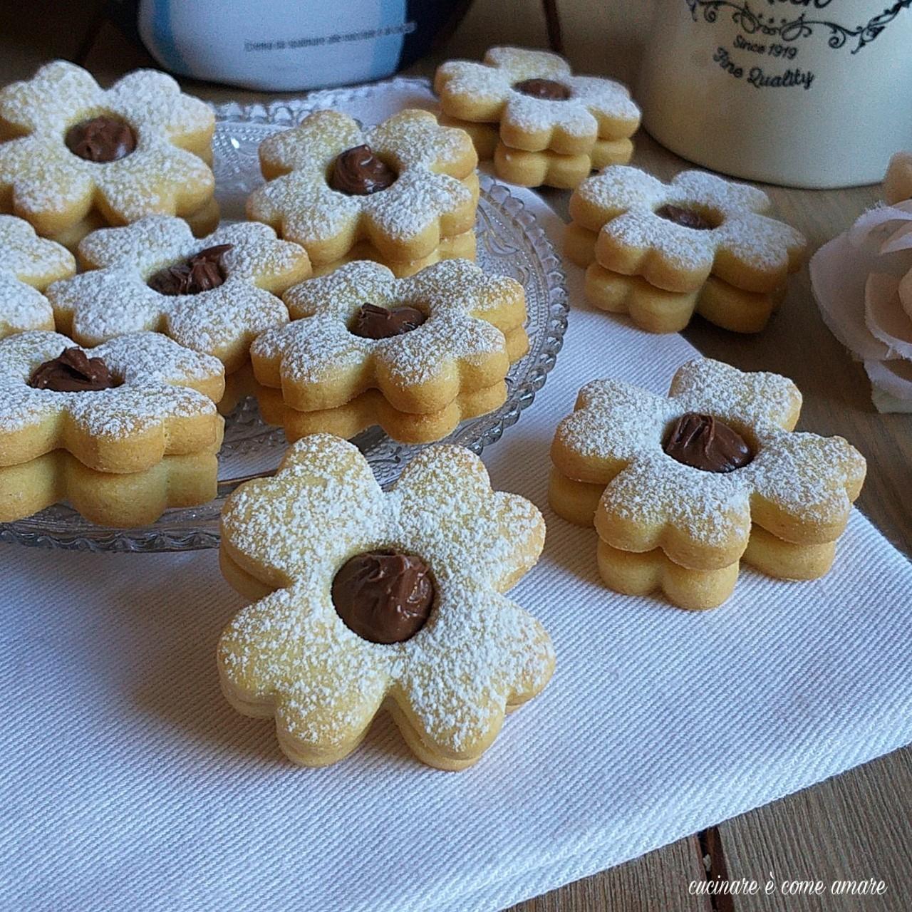 biscotto quadrifoglio alla nutella