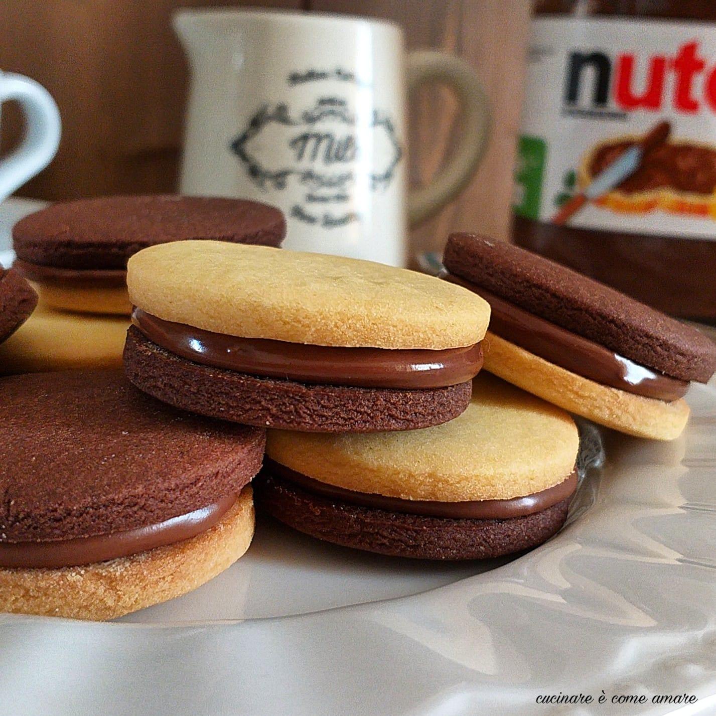 biscotto tipo ringo alla nutella