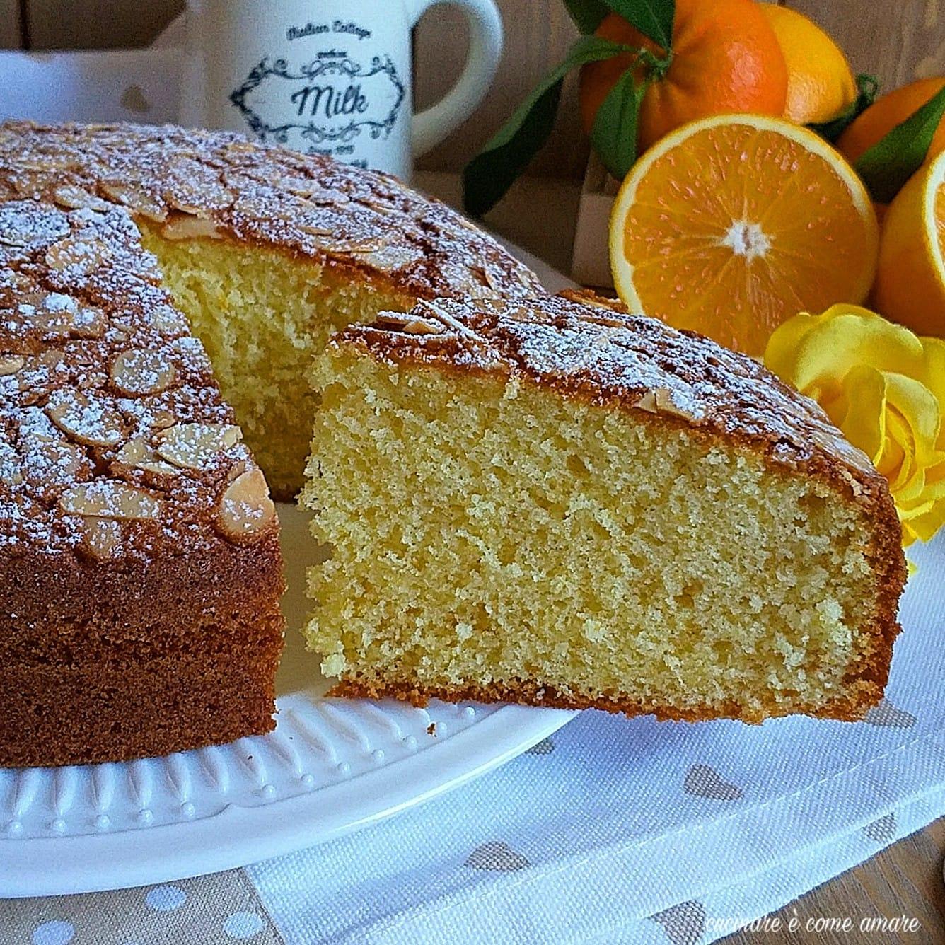 torta arancia morbidella con mandorla