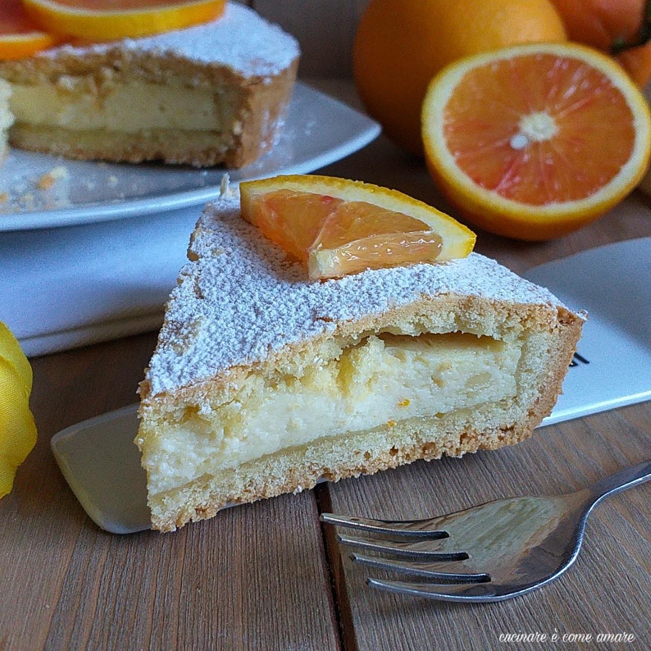 torta frollina ricotta e arancia