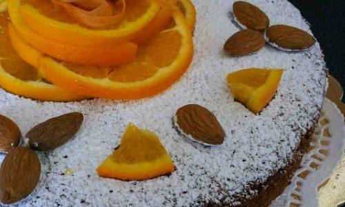 TORTA MANDORLA CAROTE e arancia
