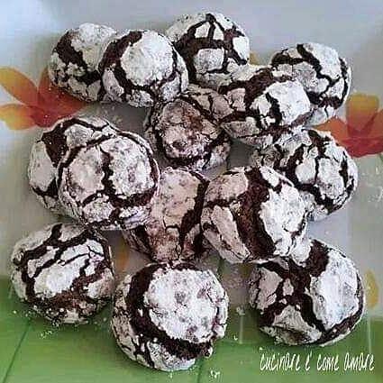 biscotto crepato morbido al cacao
