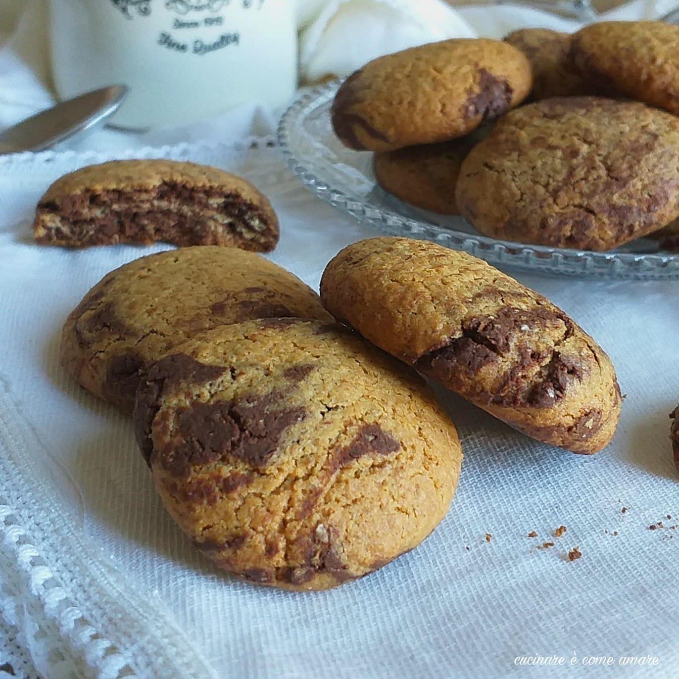 biscotto marmorizzato al cacao