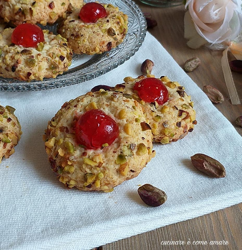 biscotto morbido pasticcino al pistacchio
