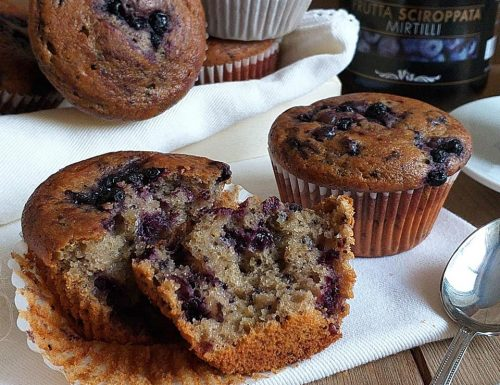 MUFFIN DOLCE INTEGRALE ricotta mirtilli