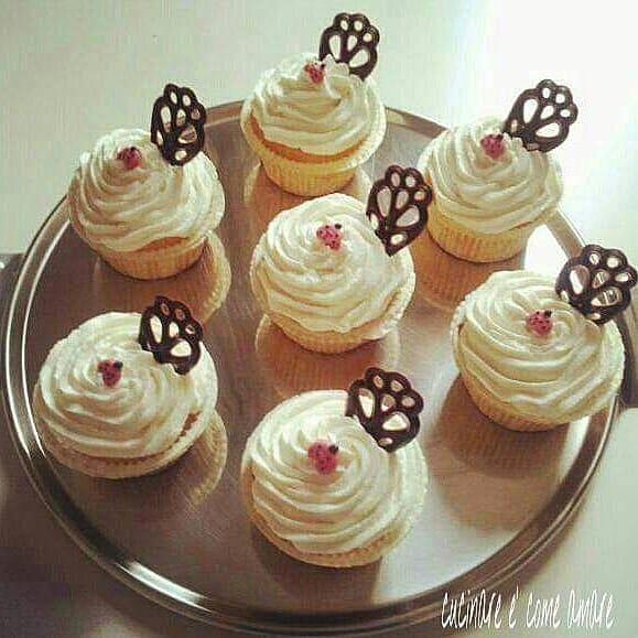 muffin torta dolce con crema