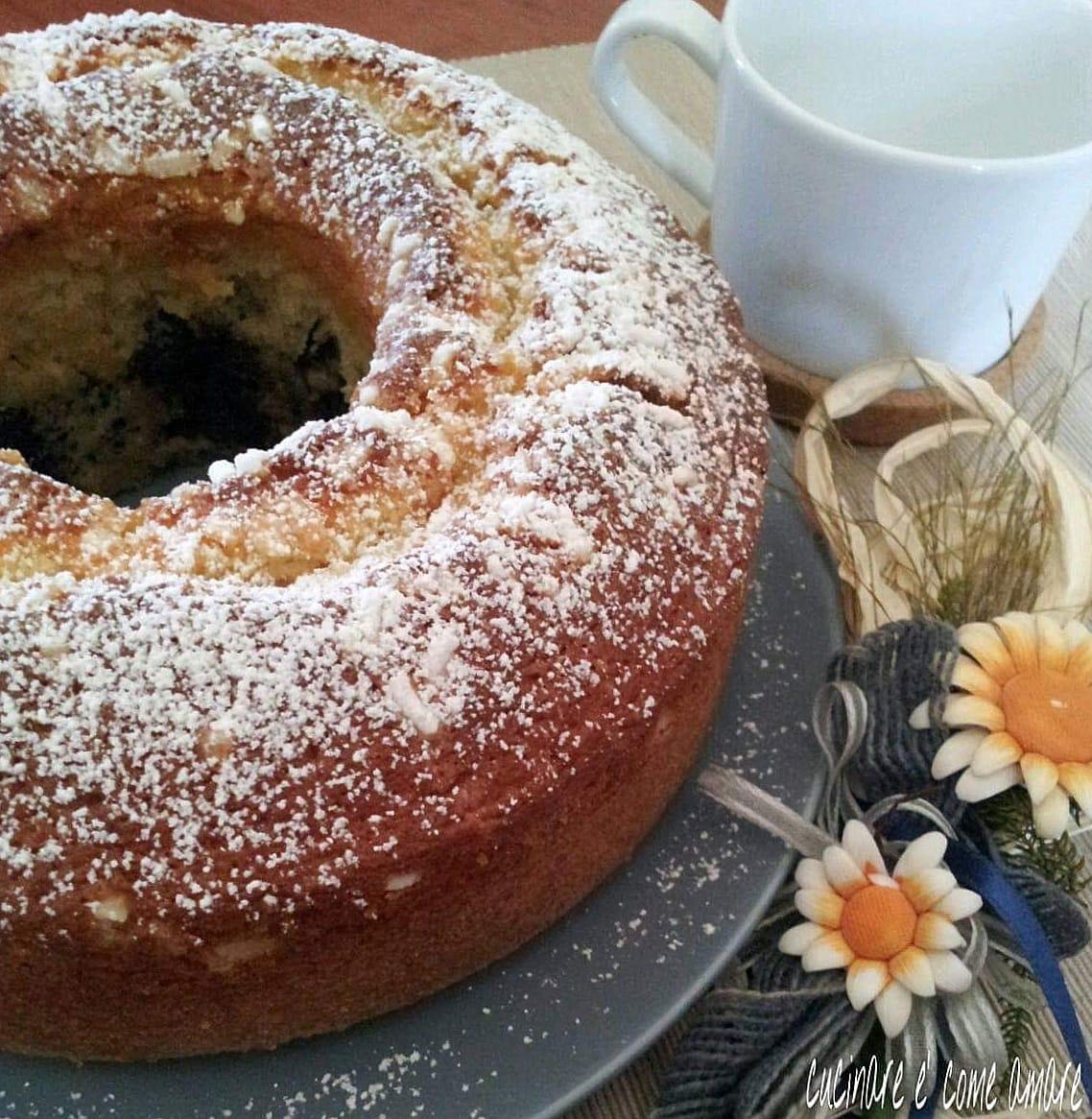 torta dolce panna e cacao