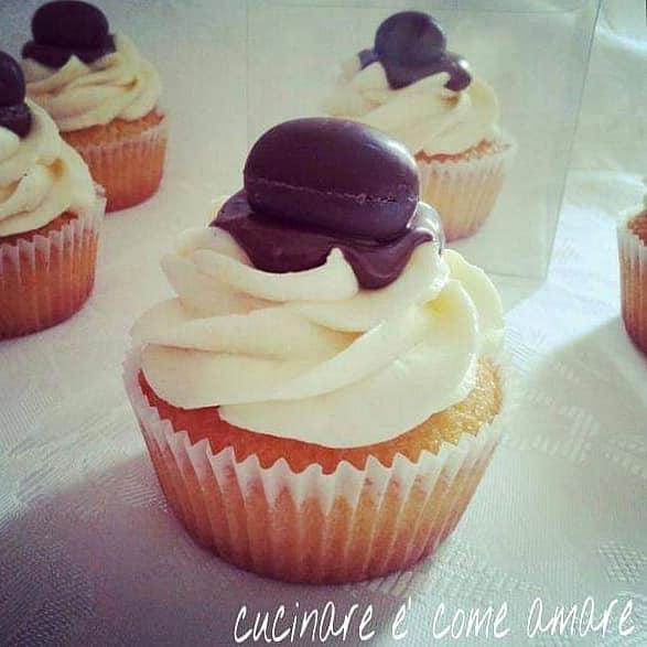 torta muffin con nutella e crema