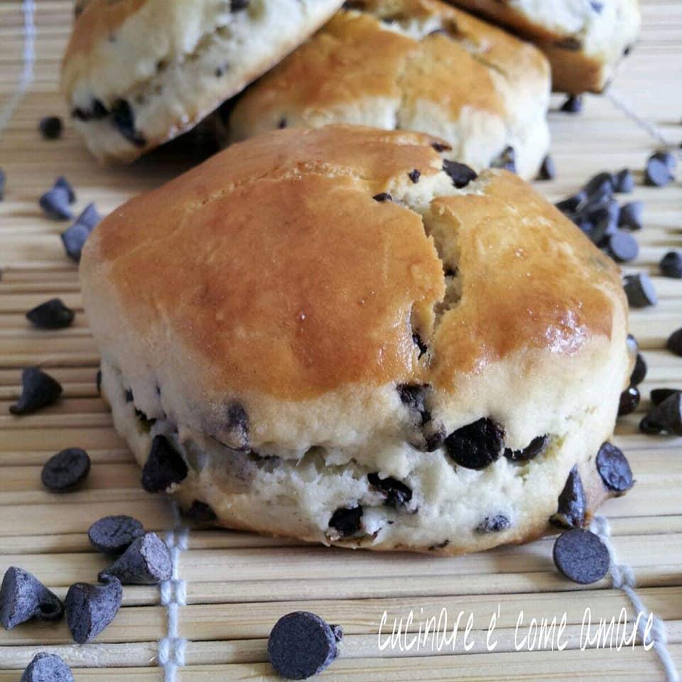 biscotto biscottone scones con cioccolato