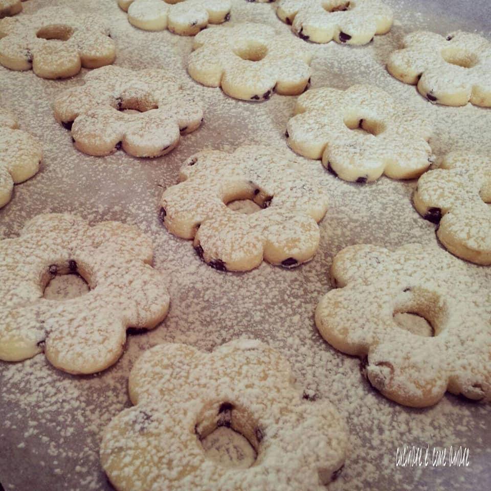 biscotto canestrelli con gocce di cioccolato