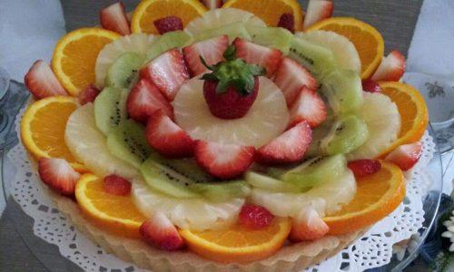 TORTA DA PASTICCERIA con RIPIENO crema frutta