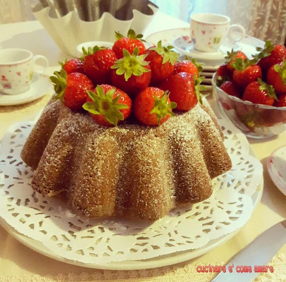 torta dolce effetto budino