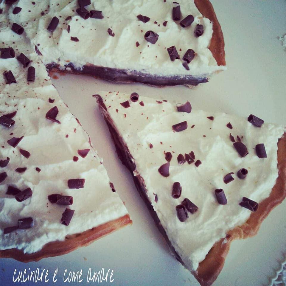 torta facile con ripieno panna nutella