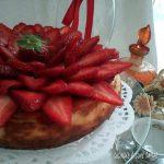 TORTA RICOTTA FRAGOLA dolce cremoso