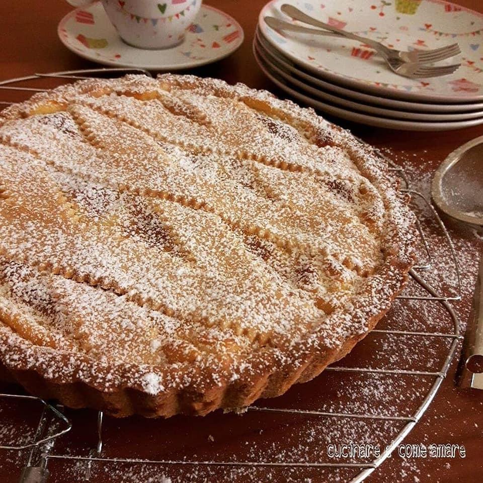 torta tipo pastiera con ricotta senza canditi