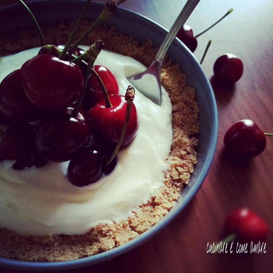 dolce leggero al cucchiaio yogurt ricotta