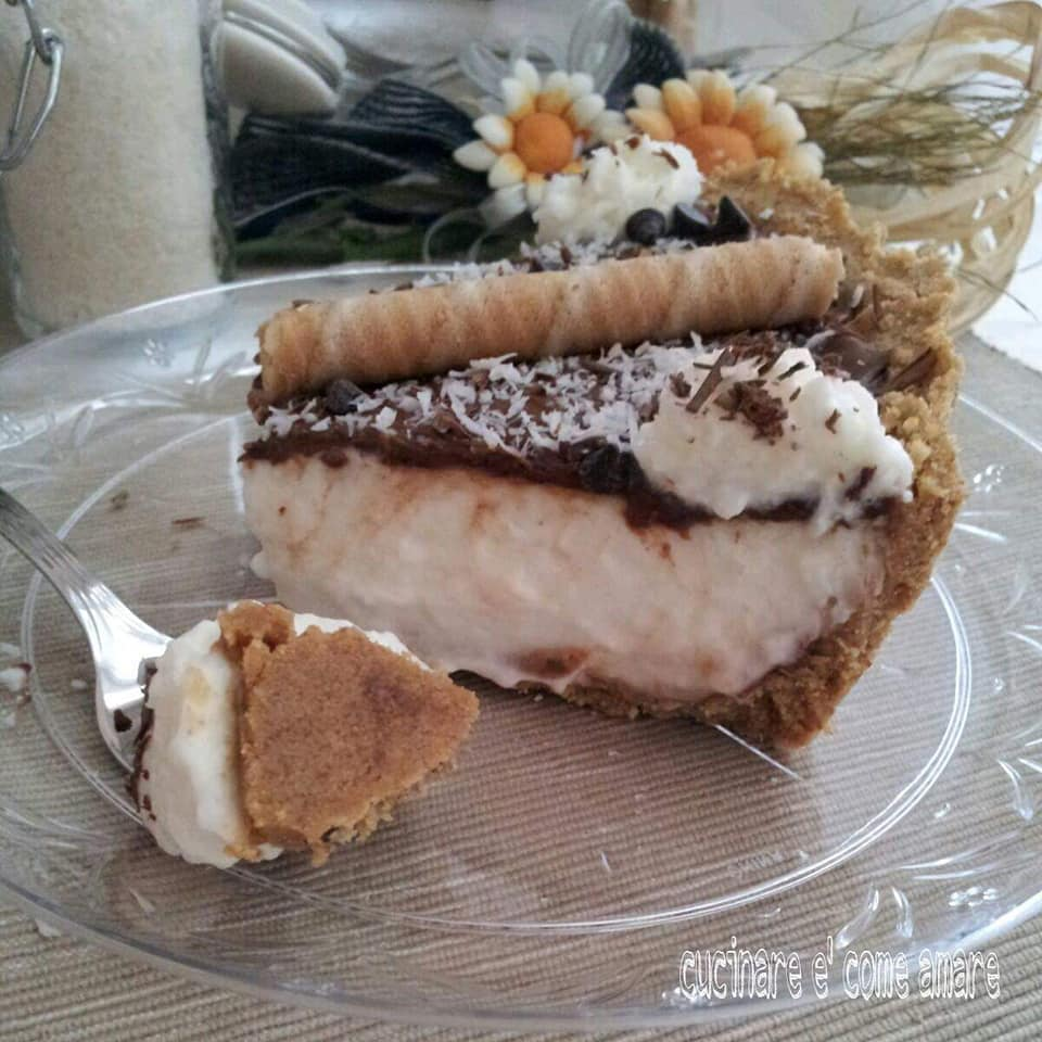 torta dolce cocco nutella con ripieno