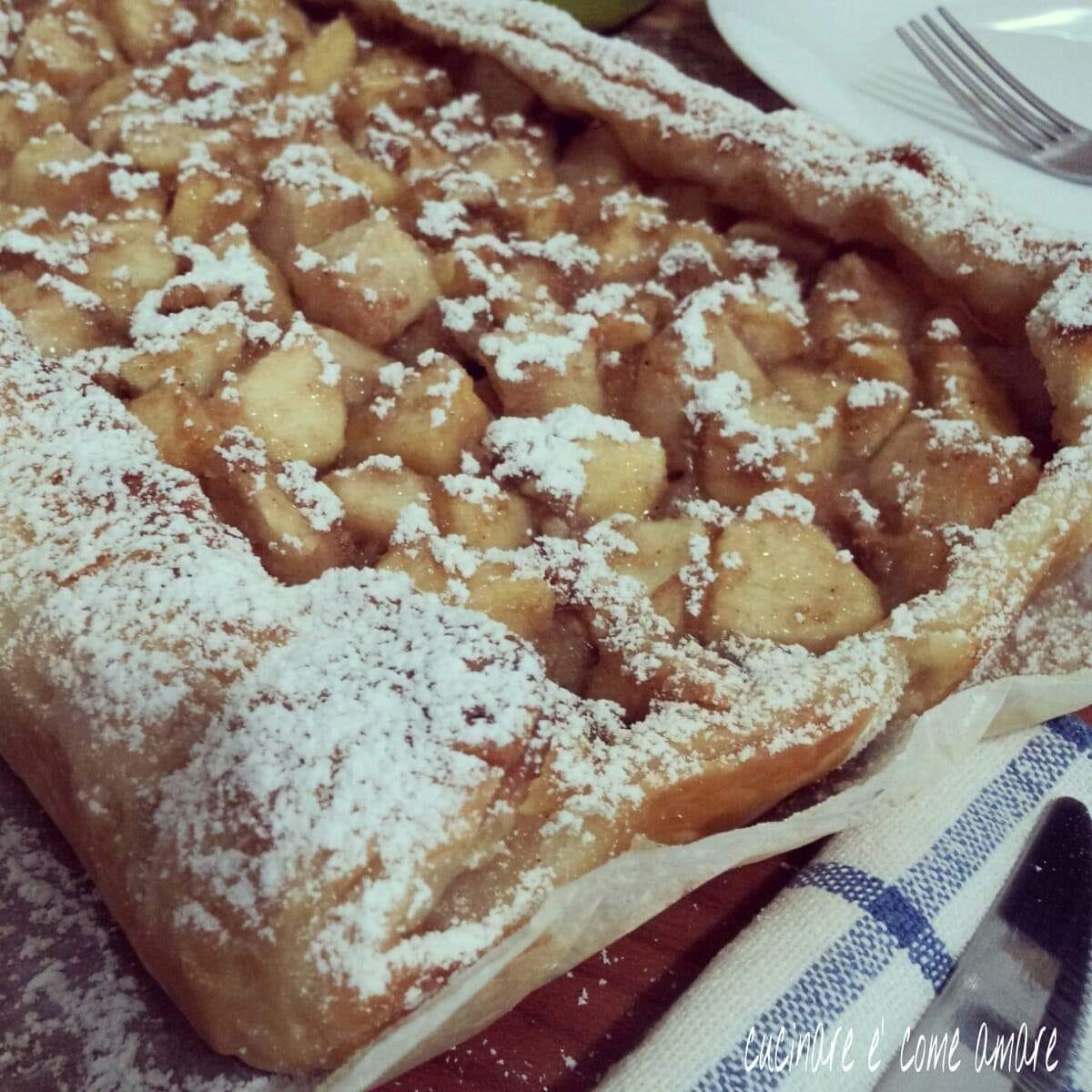 torta dolce sfoglia ripieno mele