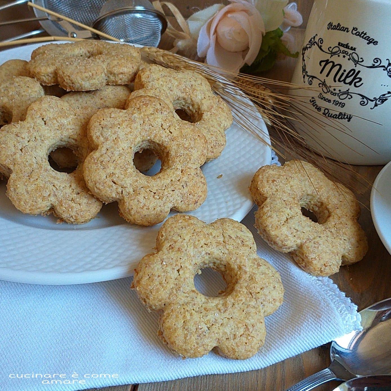 biscotto dolce rustico con farina integrale