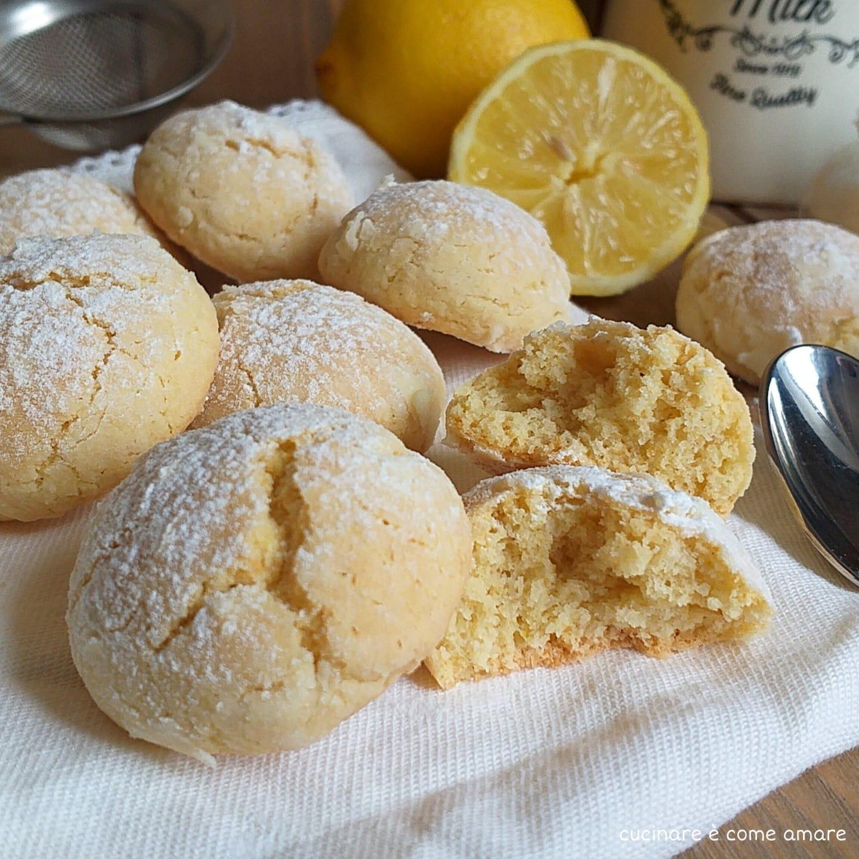biscotto morbido cocco e limone