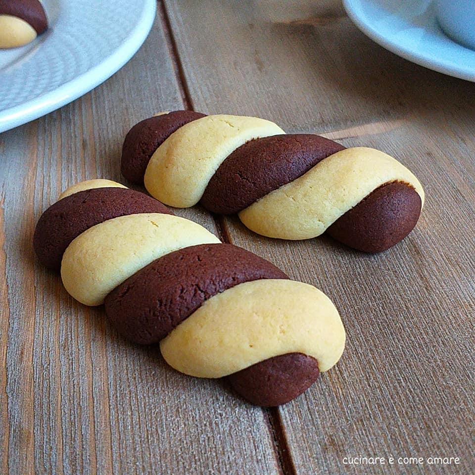 biscotto semplice doppio gusto cacao