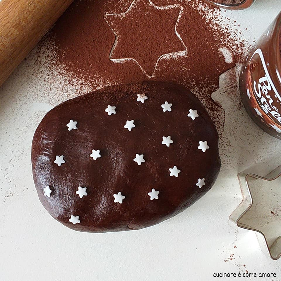 dolce frolla panstelle al cacao per biscotti