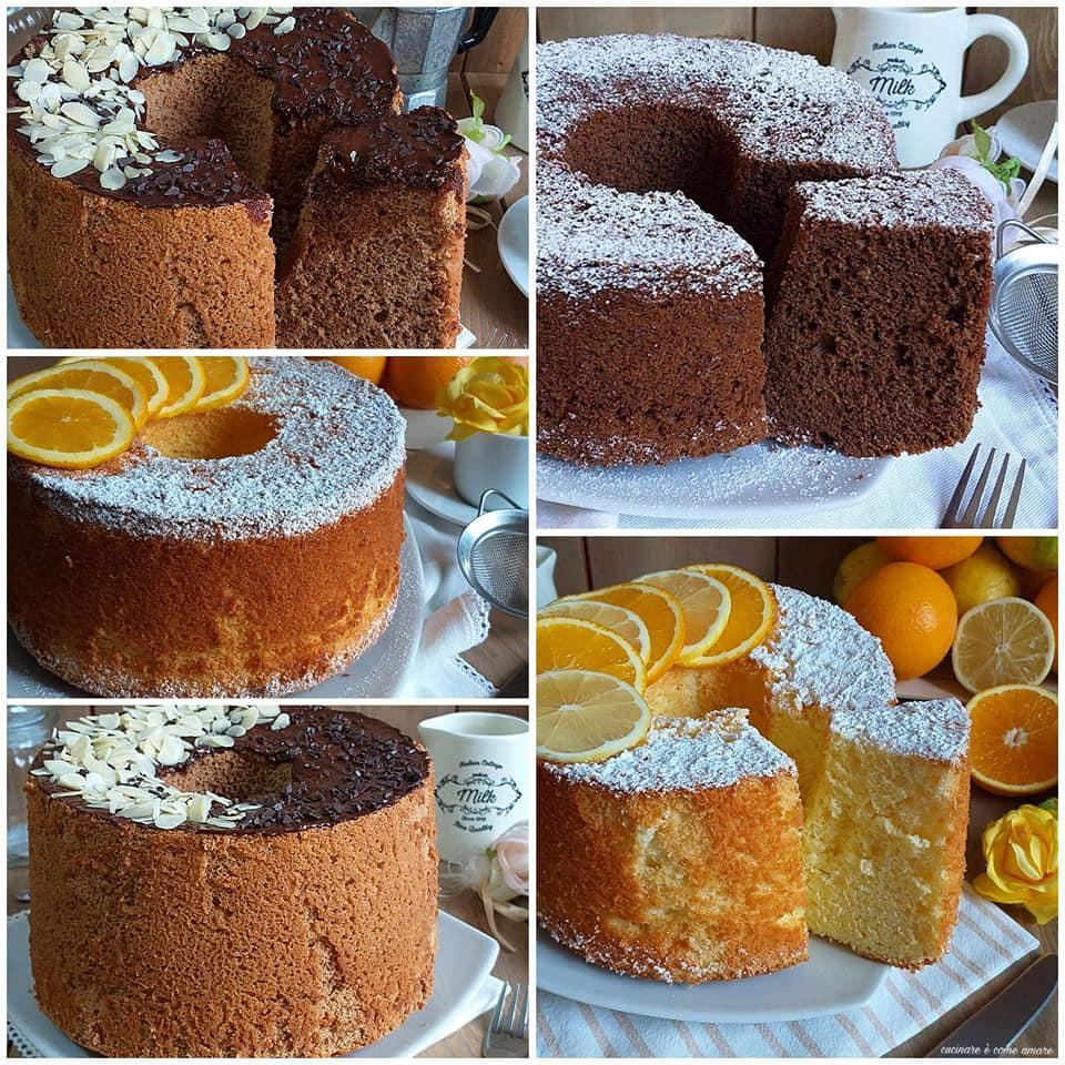 impasto dolce chiffon cake semplice o cacao