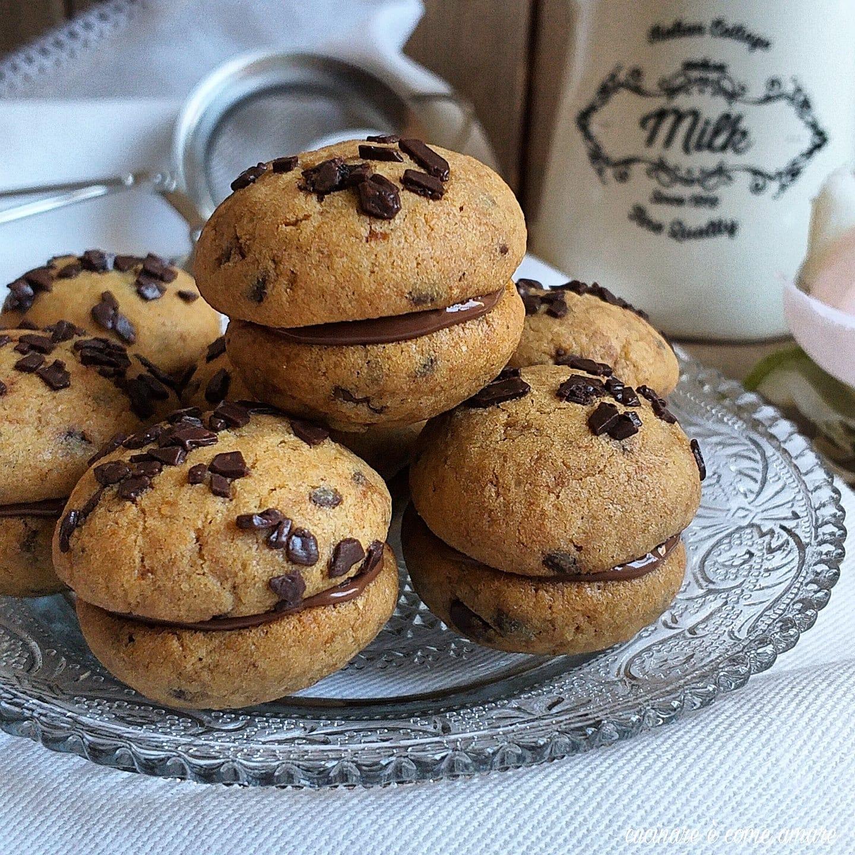 biscotto bacio di cookies ripieno