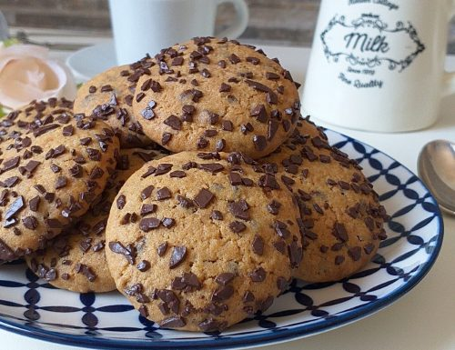 BISCOTTO FACILE TIPO COOKIES con cioccolato