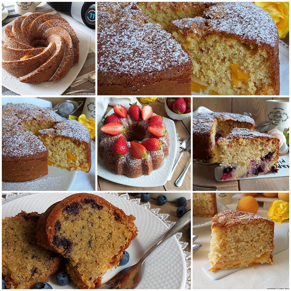 impasto torta dolce con frutta