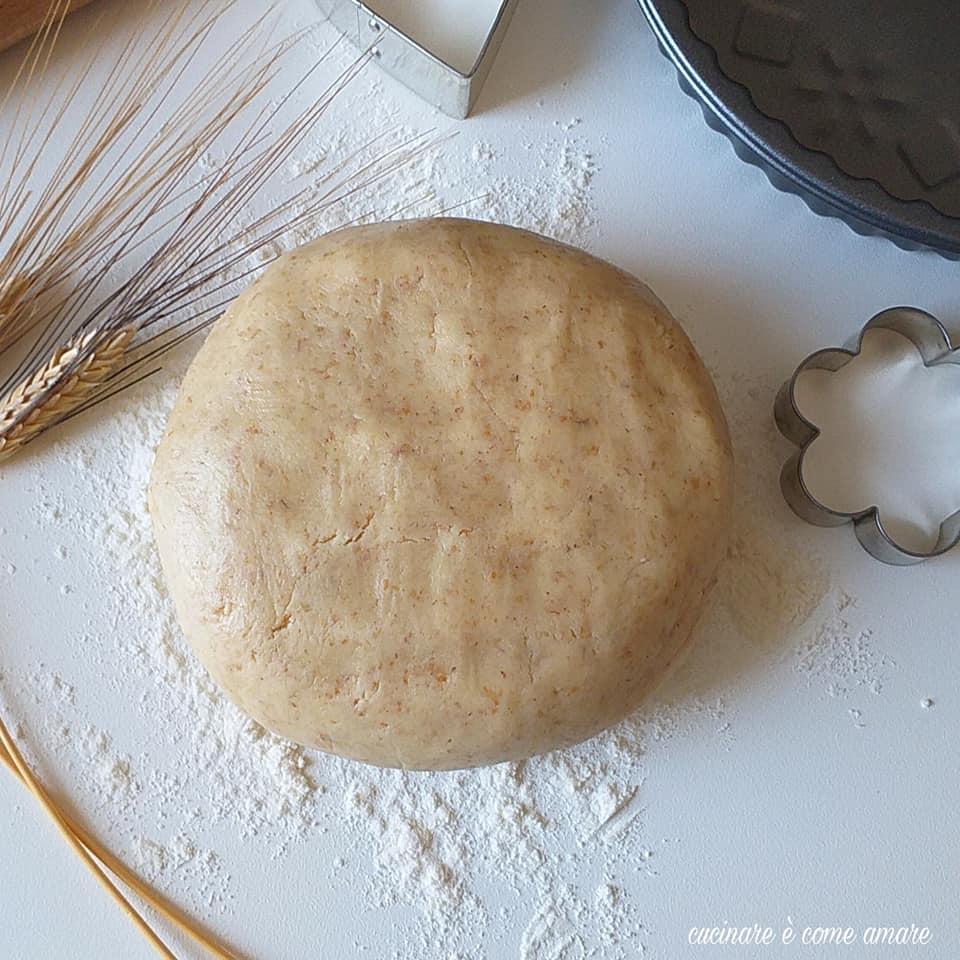 pasta frolla dolce semintegrale per biscotti
