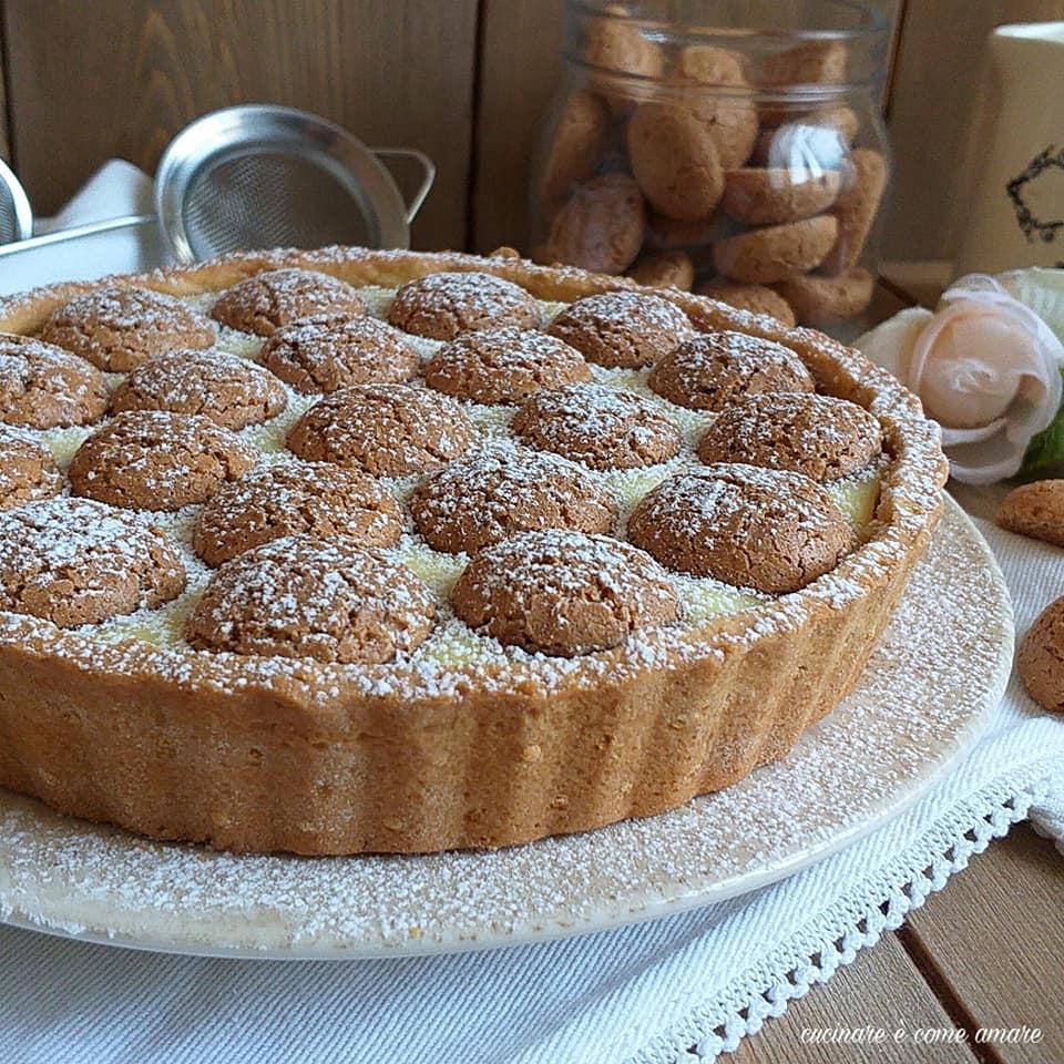 torta dolce frolla ripieno crema amaretti
