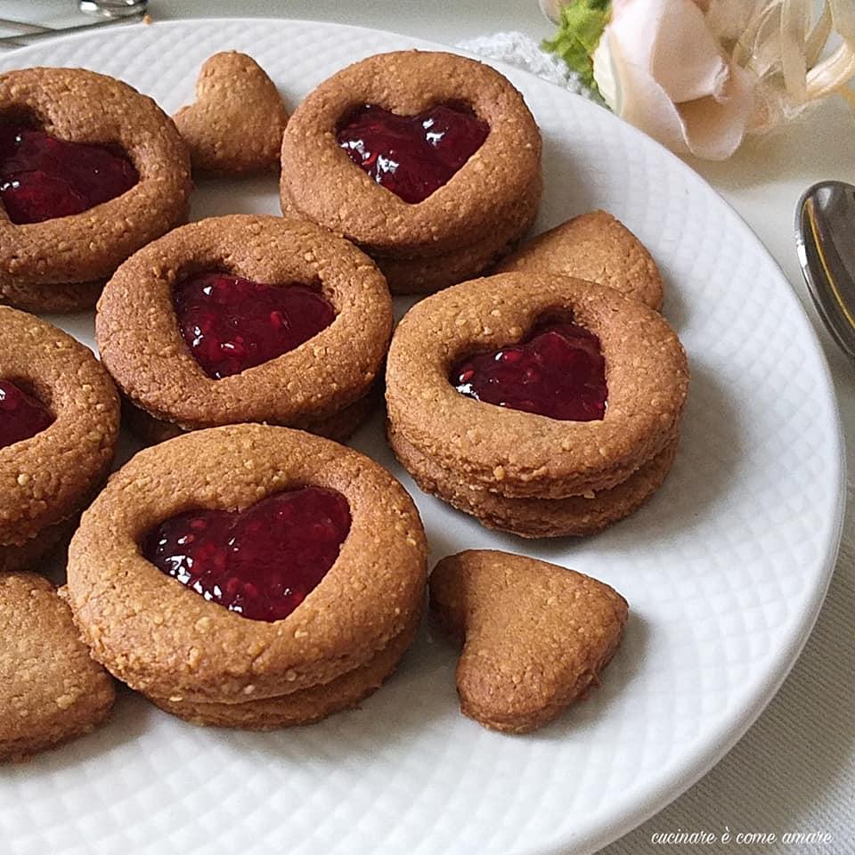 biscotto integrale cuor ripieno integrale