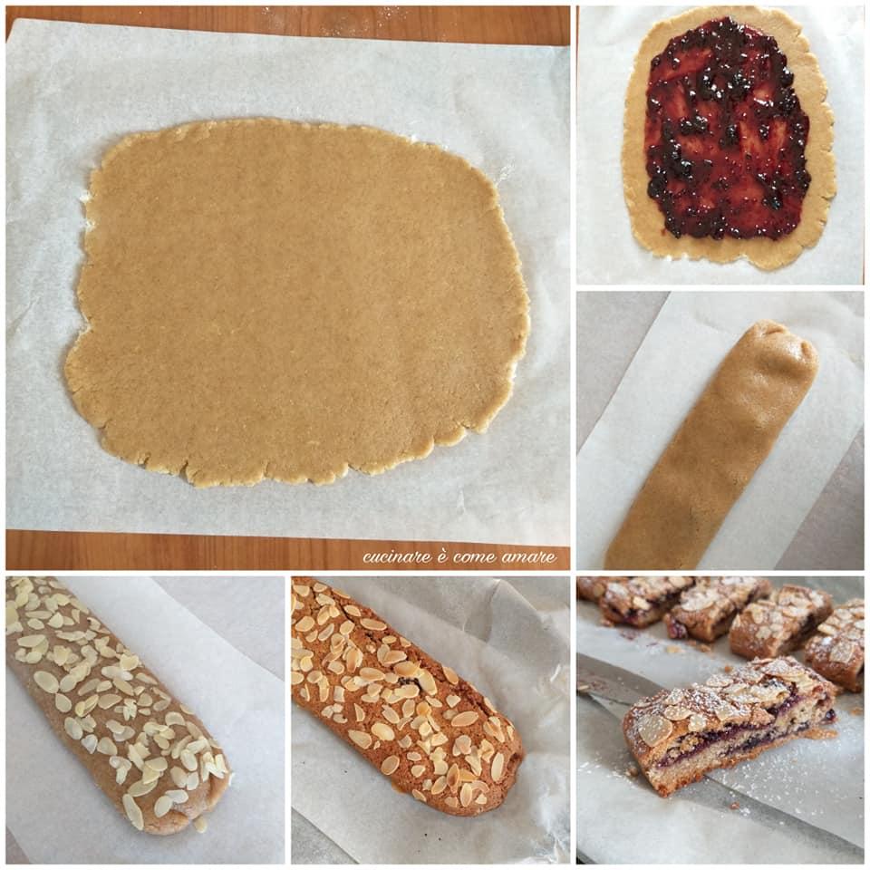 impasto biscotto rotolo integrale dolce ripieno