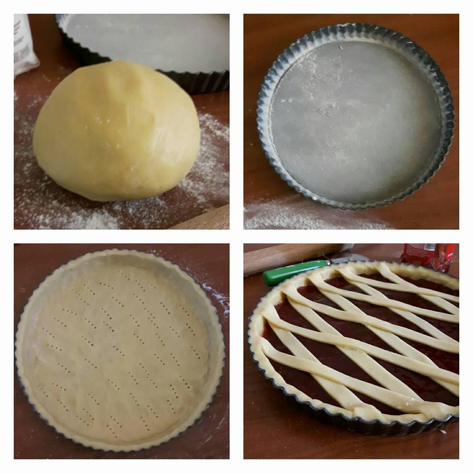 impasto dolce crostata con marmellata