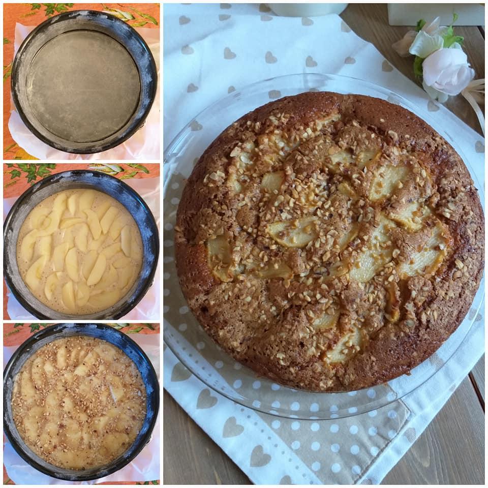 impasto torta integrale dolce con mele