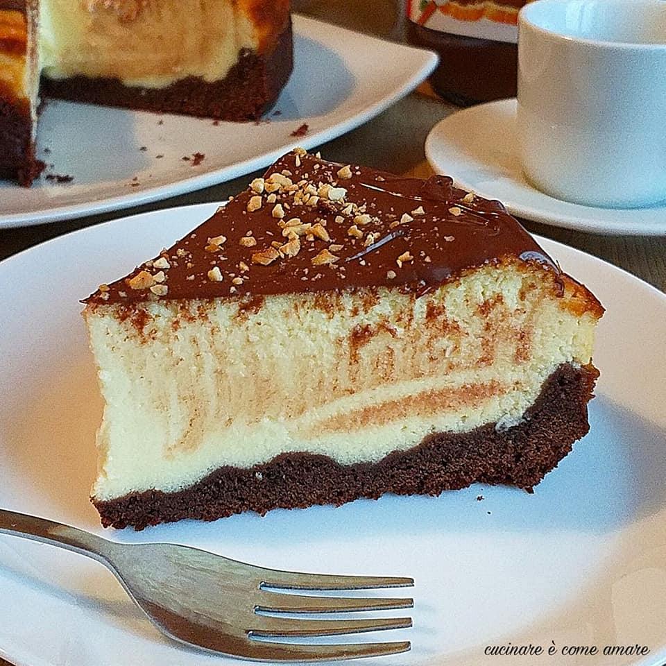 torta brownies cheesecake ricotta nutella