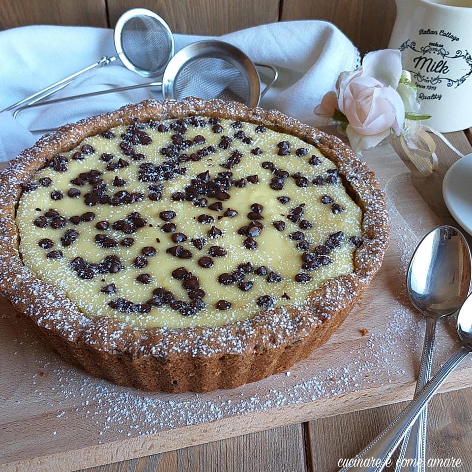 torta cheesecake stracciatella dolce con ricotta