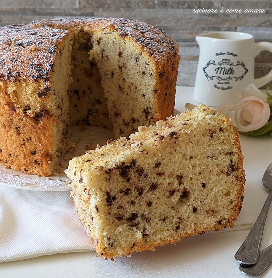 torta chiffon cake stracciatella dolce goloso