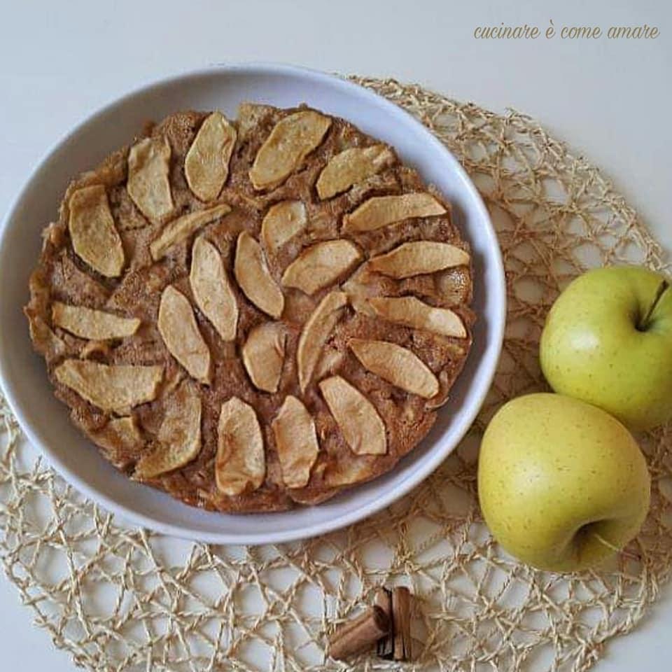 torta di mele light dolce leggero
