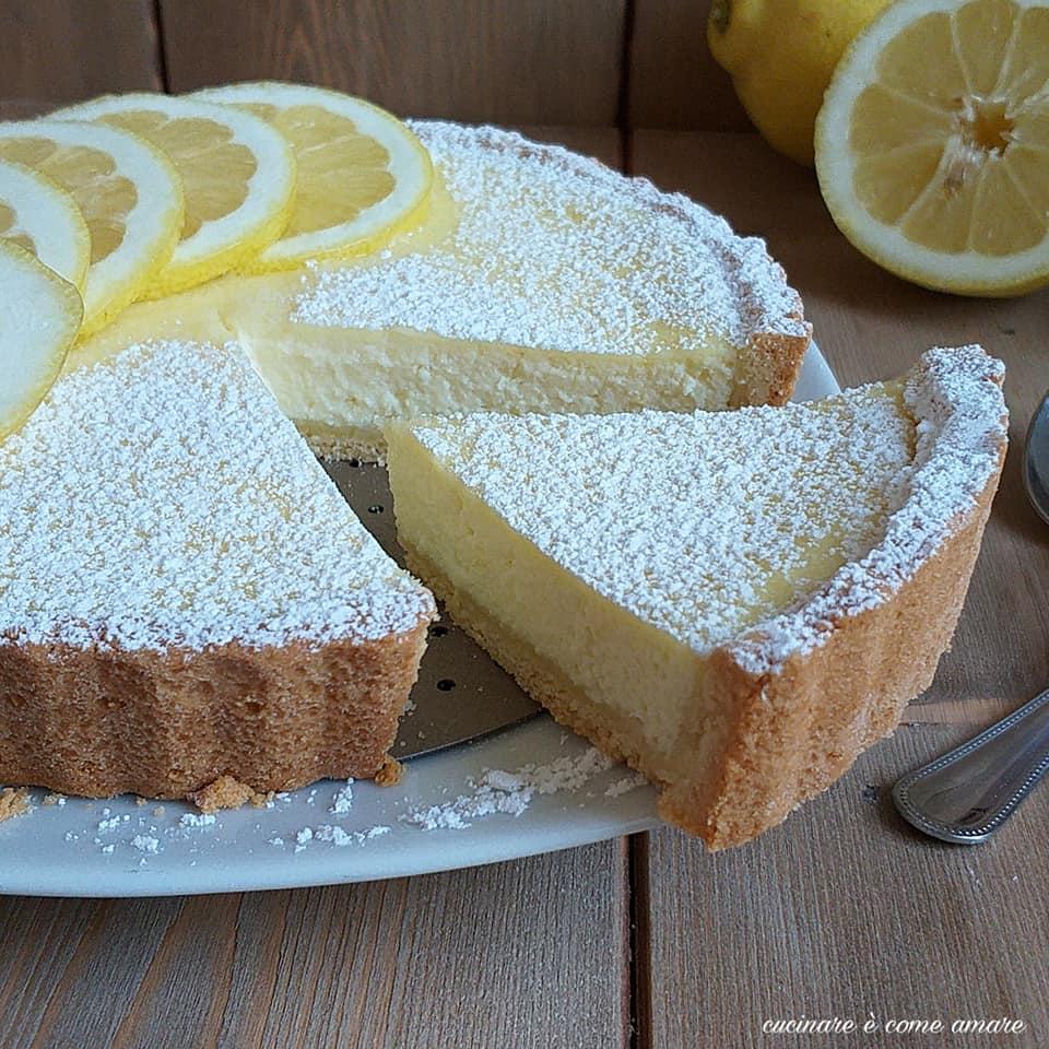 torta dolce crostata ripiena ricotta e limone