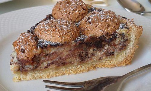 TORTA FROLLA CON AMARETTI cioccolato e ricotta