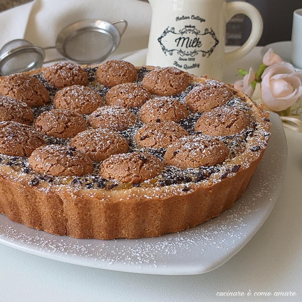 torta frolla dolce ripieno crema caffe' amaretti