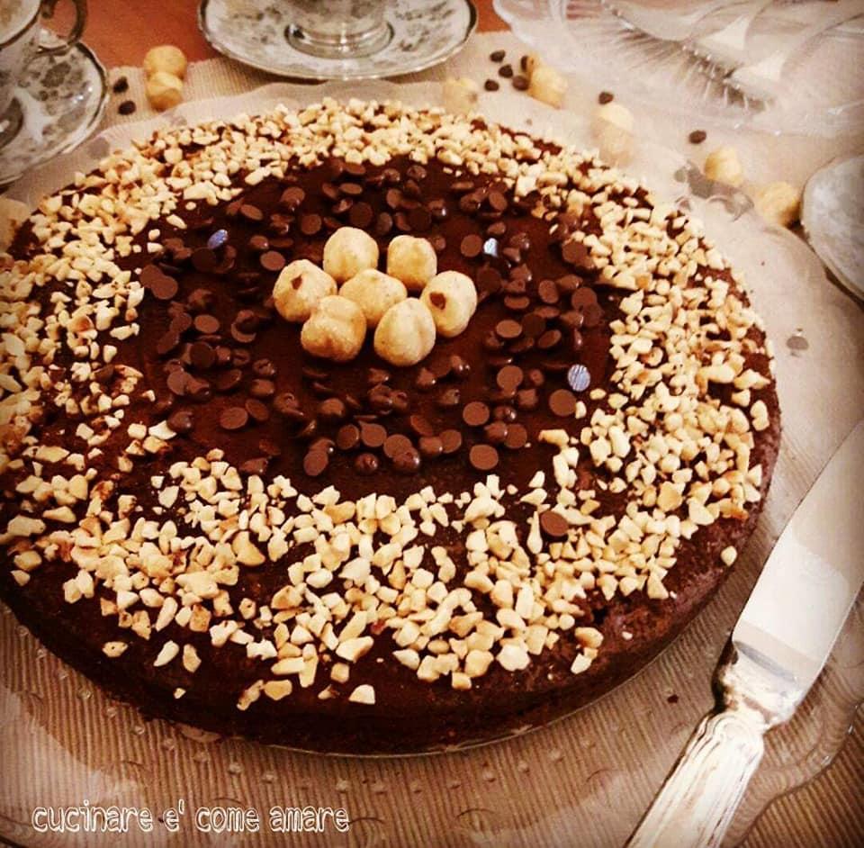 torta golosa cacao nocciole e cioccolato
