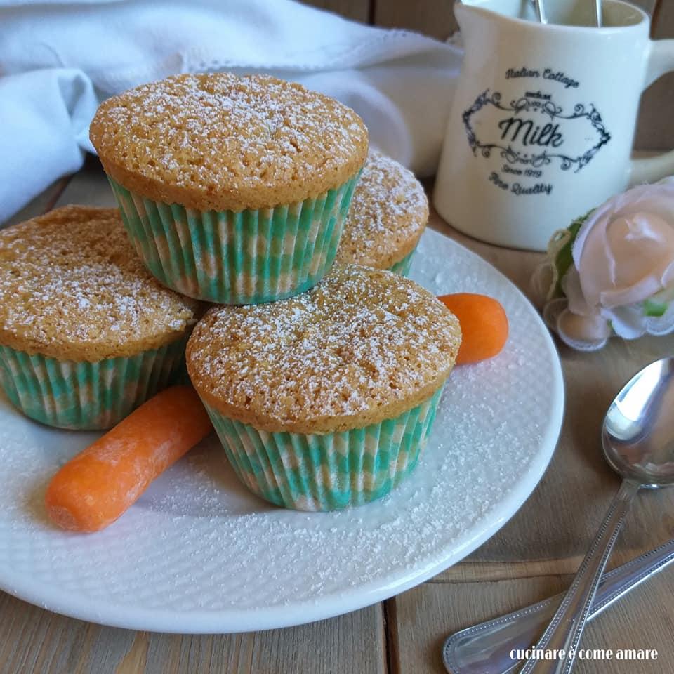 dolce muffin camilla carote e mandorla
