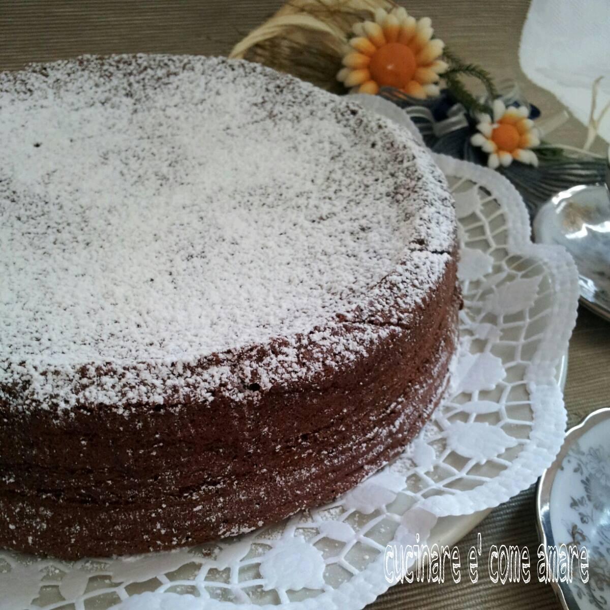 dolce torta morbidella al cacao