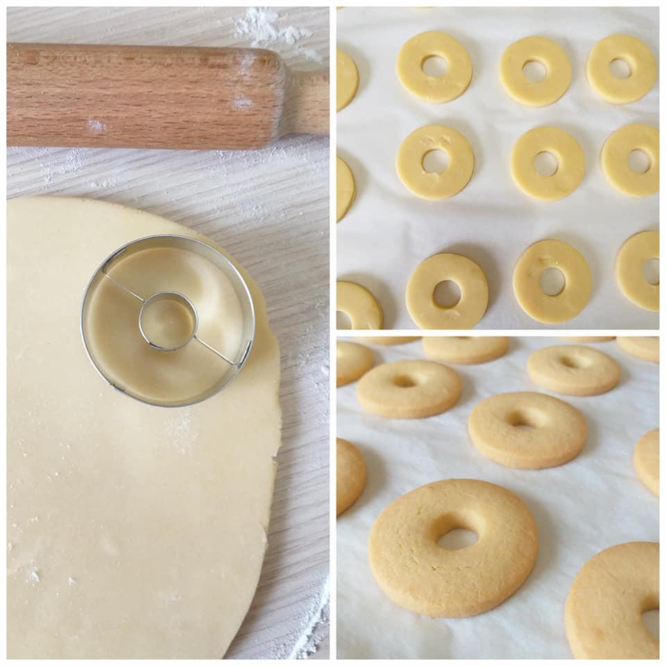 impasto biscotti alla panna dolce semplice