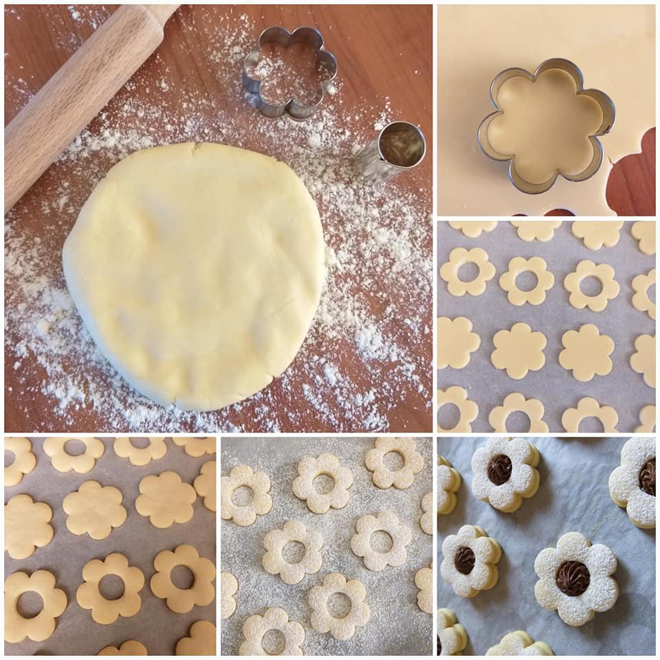 impasto biscotto con nutella ripieno