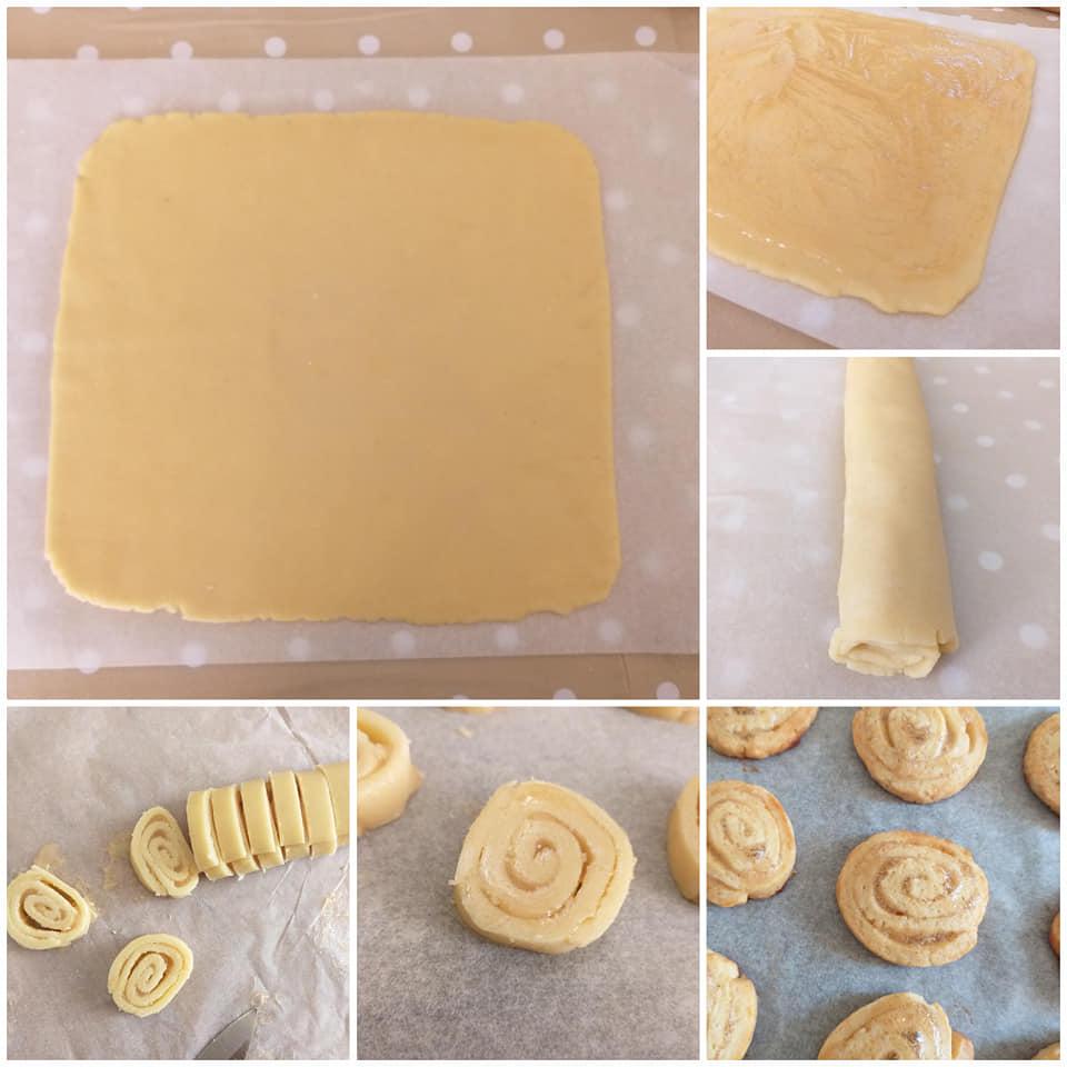 impasto biscotto girella ripieno marmellata